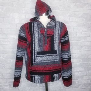 Mexican Hoodie Poncho Size S